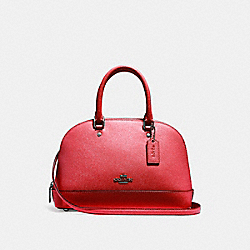 COACH F27591 - MINI SIERRA SATCHEL BLACK ANTIQUE NICKEL/POPPY
