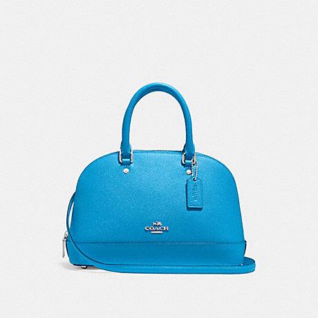 c2c0d278e74a COACH F27591 - MINI SIERRA SATCHEL - BRIGHT BLUE SILVER