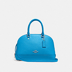 COACH F27591 Mini Sierra Satchel BRIGHT BLUE/SILVER