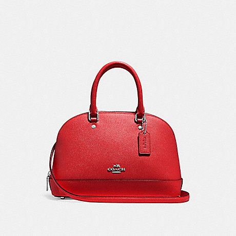 dd3deda65f2e COACH F27591 - MINI SIERRA SATCHEL - BRIGHT RED SILVER