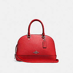 MINI SIERRA SATCHEL - f27591 - BRIGHT RED/SILVER