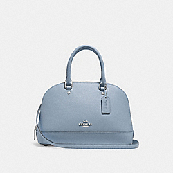 MINI SIERRA SATCHEL - F27591 - CORNFLOWER/SILVER