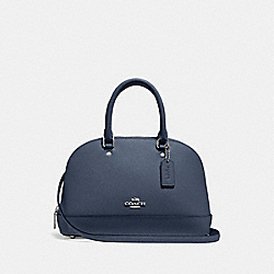 COACH F27591 Mini Sierra Satchel DENIM/SILVER