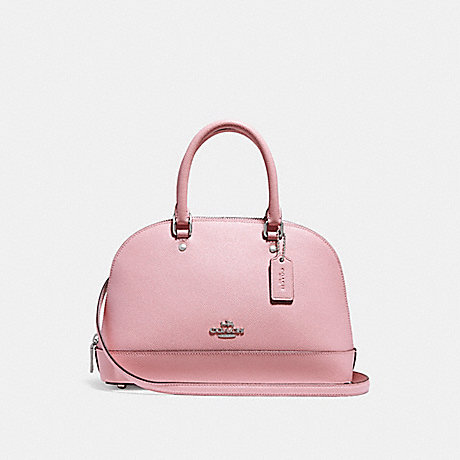 COACH f27591 MINI SIERRA SATCHEL SILVER/BLUSH 2