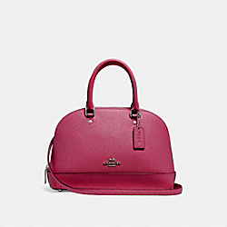 MINI SIERRA SATCHEL - f27591 - SILVER/HOT PINK