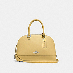 COACH F27591 Mini Sierra Satchel LIGHT YELLOW/SILVER