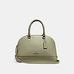 COACH F27591 Mini Sierra Satchel LIGHT CLOVER/SILVER