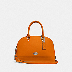 COACH F27591 Mini Sierra Satchel DARK ORANGE/SILVER