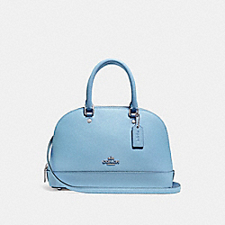 COACH MINI SIERRA SATCHEL - SILVER/POOL - F27591
