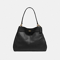 COACH F27593 Lexy Shoulder Bag BLACK/IMITATION GOLD