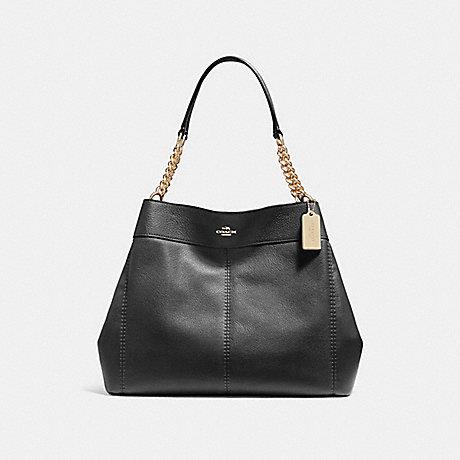 COACH f27594 LEXY CHAIN SHOULDER BAG BLACK/IMITATION GOLD