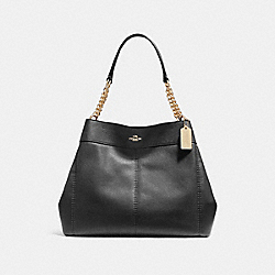 COACH F27594 Lexy Chain Shoulder Bag BLACK/IMITATION GOLD