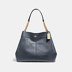 COACH F27594 Lexy Chain Shoulder Bag MIDNIGHT/LIGHT GOLD