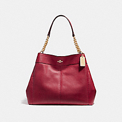 COACH F27594 - LEXY CHAIN SHOULDER BAG LIGHT GOLD/DARK RED