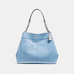 COACH F27594 Lexy Chain Shoulder Bag SILVER/POOL
