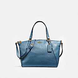 COACH MINI KELSEY SATCHEL - INK BLUE/LIGHT GOLD - F27596
