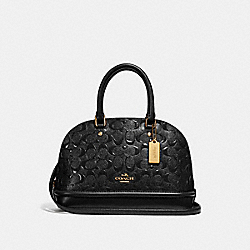 COACH F27597 - MINI SIERRA SATCHEL IN SIGNATURE LEATHER BLACK/BLACK/LIGHT GOLD