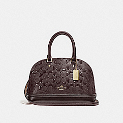 COACH F27597 - MINI SIERRA SATCHEL IN SIGNATURE LEATHER OXBLOOD 1/LIGHT GOLD