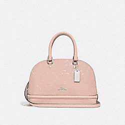 COACH F27597 - MINI SIERRA SATCHEL IN SIGNATURE LEATHER SILVER/LIGHT PINK
