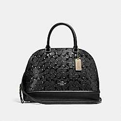 COACH SIERRA SATCHEL - LIGHT GOLD/BLACK - F27598