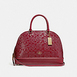 COACH F27598 Sierra Satchel In Signature Leather CHERRY /LIGHT GOLD