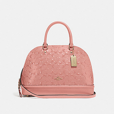 COACH F27598 SIERRA SATCHEL IN SIGNATURE LEATHER MELON/LIGHT-GOLD