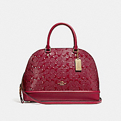 SIERRA SATCHEL - f27598 - LIGHT GOLD/DARK RED