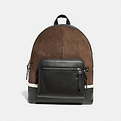 COACH F27607 West Backpack SADDLE MULTI/BLACK COPPER FINISH