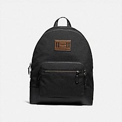 WEST BACKPACK IN CORDURA - f27609 - ANTIQUE NICKEL/BLACK