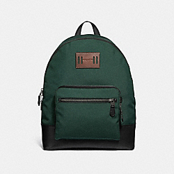 COACH F27609 West Backpack RACING GREEN/BLACK ANTIQUE NICKEL
