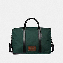 COACH F27610 Voyager Bag In Cordura RACING GREEN/BLACK ANTIQUE NICKEL