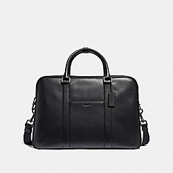 OVERNIGHT BAG - f27614 - ANTIQUE NICKEL/BLACK