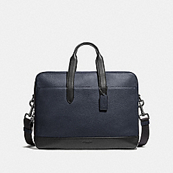 COACH F27617 Hamilton Day Brief MIDNIGHT NAVY/BLACK ANTIQUE NICKEL