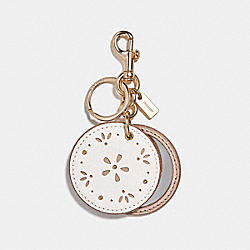 MIRROR BAG CHARM - f27645 - GOLD/CHALK