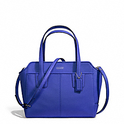 TAYLOR LEATHER BETTE MINI TOTE CROSSBODY - f27661 - SILVER/COBALT