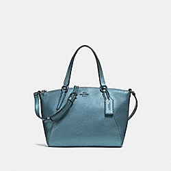 COACH MINI KELSEY SATCHEL - METALLIC POOL/SILVER - F27688