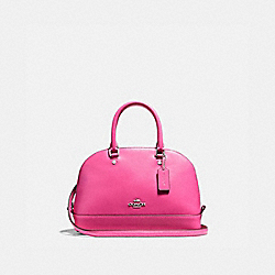 MINI SIERRA SATCHEL IN SMOOTH LEATHER - f27694 - SILVER/BRIGHT FUCHSIA