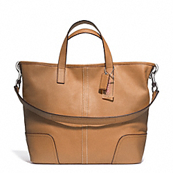 HADLEY LEATHER DUFFLE - f27728 - SILVER/NATURAL