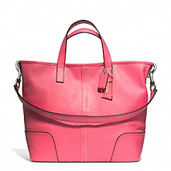 HADLEY LEATHER DUFFLE - f27728 - SILVER/STRAWBERRY