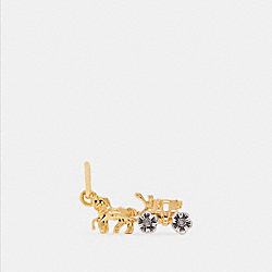 TEA ROSE HORSE AND CARRIAGE CHARM - F27737 - SILVER/GOLD