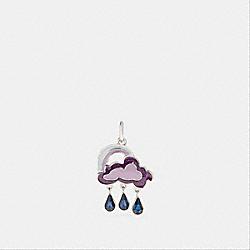 COACH F27751 Cloud And Rainbow Charm ICE PURPLE/SILVER