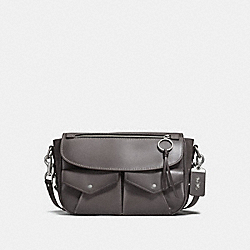 COACH F27758 Utility Bag Messenger HEATHER GREY/LIGHT ANTIQUE NICKEL