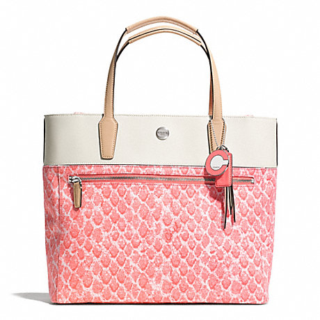 COACH F27783 RESORT SNAKE PRINT SMALL TOTE ONE-COLOR