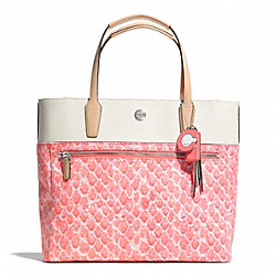 COACH F27783 - RESORT SNAKE PRINT SMALL TOTE ONE-COLOR