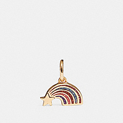 COACH F27818 Shooting Star Charm MULTI/GOLD