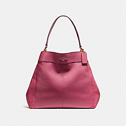 LARGE LEXY SHOULDER BAG - f27833 - LIGHT GOLD/ROUGE
