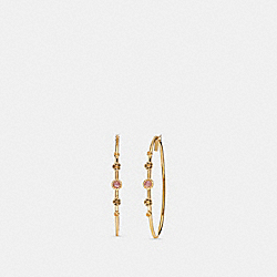 COACH F27835 Sunburst Hoop Earrings AMETHYST/GOLD