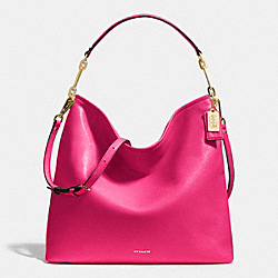 MADISON LEATHER HOBO - f27858 - LIGHT GOLD/PINK RUBY