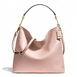 MADISON LEATHER HOBO - f27858 - LIGHT GOLD/PEACH ROSE