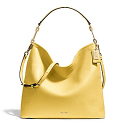 MADISON LEATHER HOBO - f27858 - LIGHT GOLD/PALE LEMON